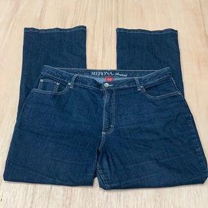 Merona bootcut jeans women 18w dark blue